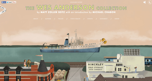 Screenshot of Wes Anderson Collection