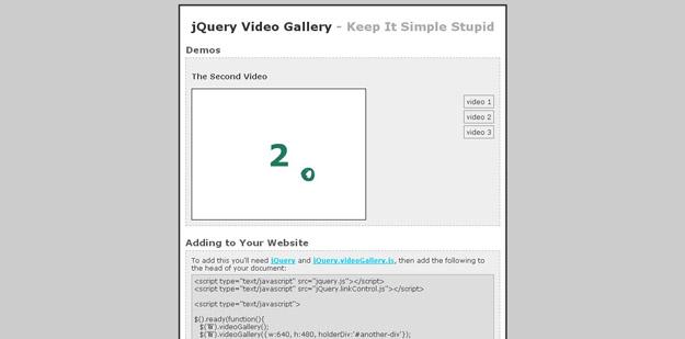 Video Gallery Plugin