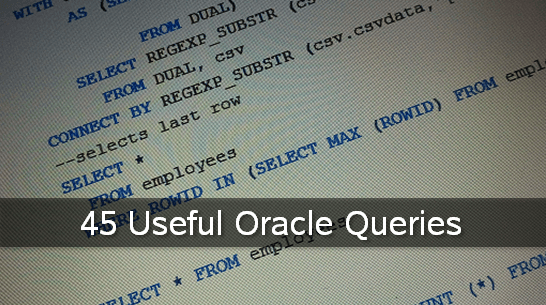useful-oracle-queries