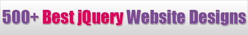 Best jQuery website design gallery
