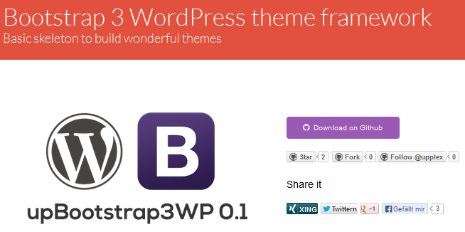 bootstrap wordpress framework 5