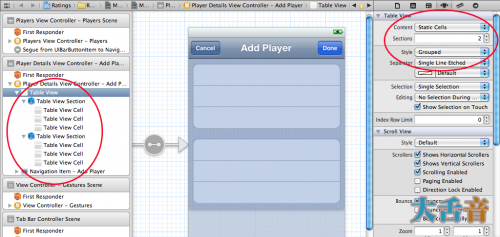 Configuring a table view to use static cells in the storyboard editor