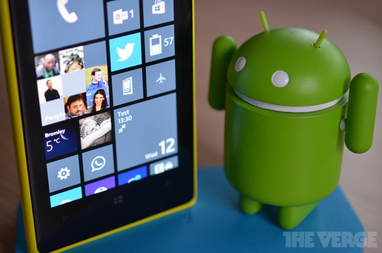 传微软在考虑允许Android应用运行于Windows和WP