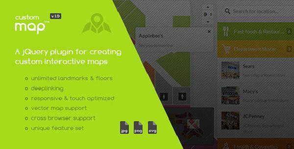 Custom Interactive Map jQuery Plug-in