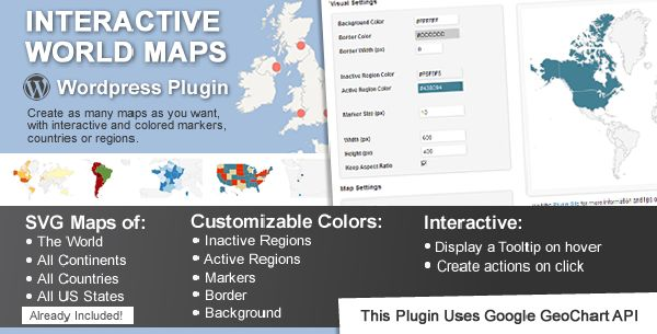 Interactive World Map Plug-in