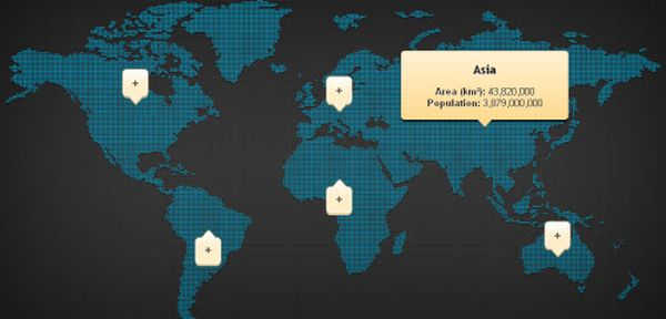 CSS & jQuery Clickable map