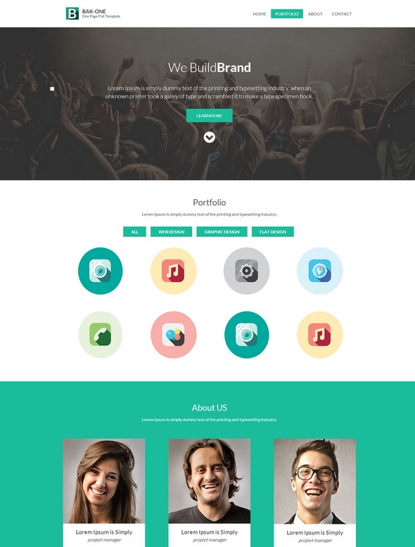 The Bak-one Website Template