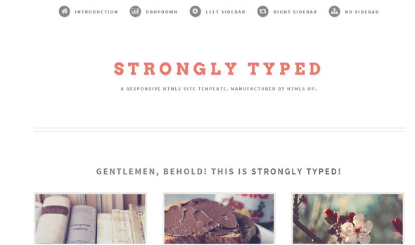 Strongly Typed HTML5 UP