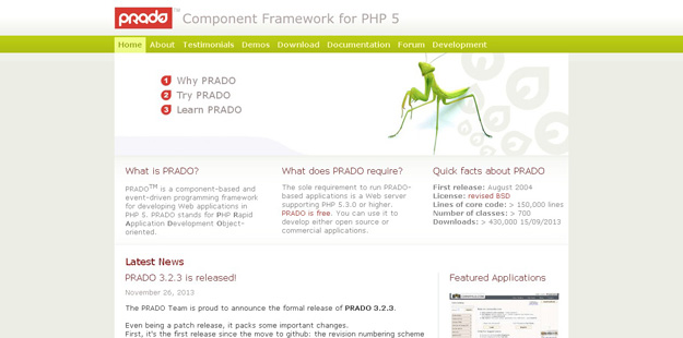 PRADO PHP Framework