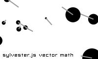Sylvester.js vector math demo
