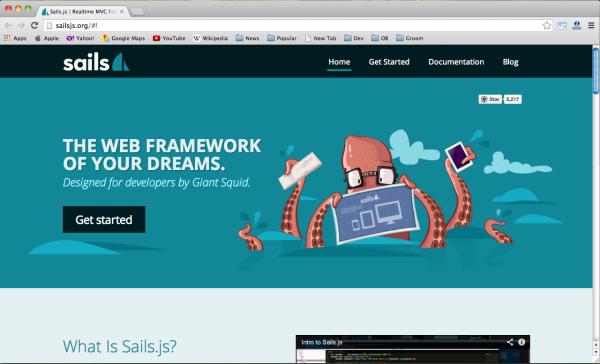 Best web framework - sails