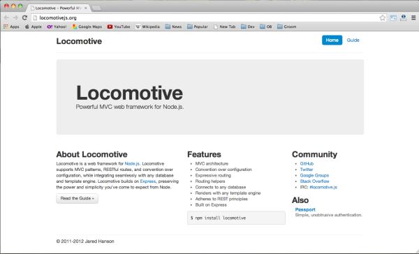best node.js web framework - locomotive