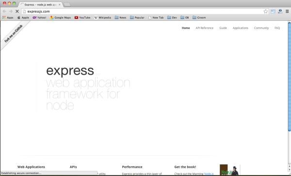 best node.js web framework - expressjs