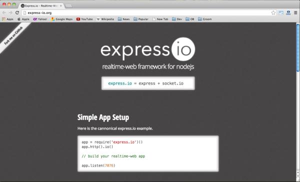 best node.js web framework - express.io