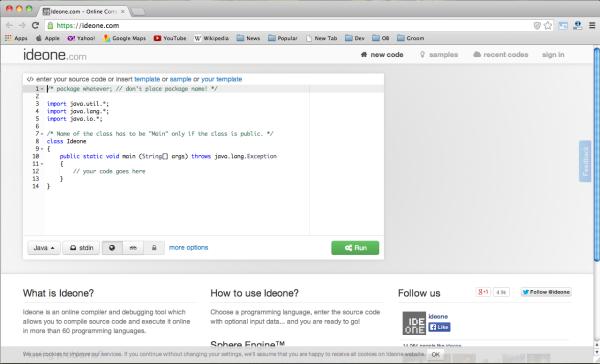 best c++ code ditor - ideone