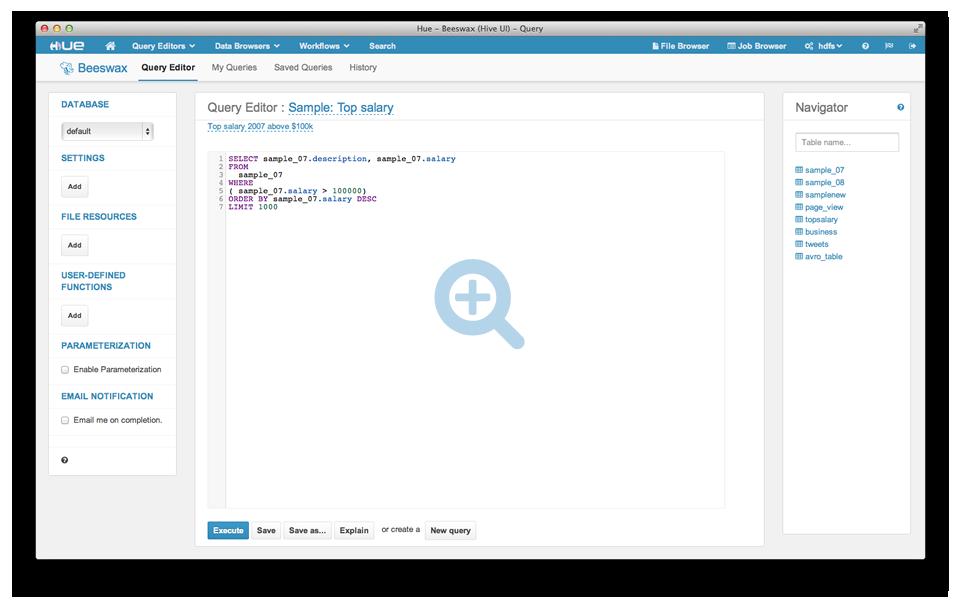 Hadoop 图形化用户界面 Hue