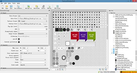 TexturePacker preview