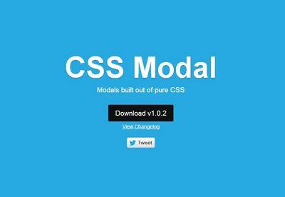 CSS modal