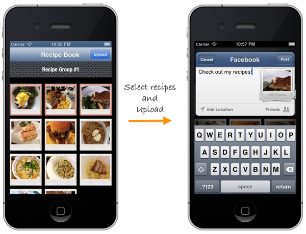 Recipe Collection App Facebook Deliverable