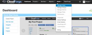 manage users 300x116 How to Get Started with CloudForge Development Platform in Pivotal CloudFoundry PaaS