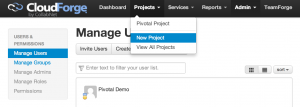 new project 300x107 How to Get Started with CloudForge Development Platform in Pivotal CloudFoundry PaaS