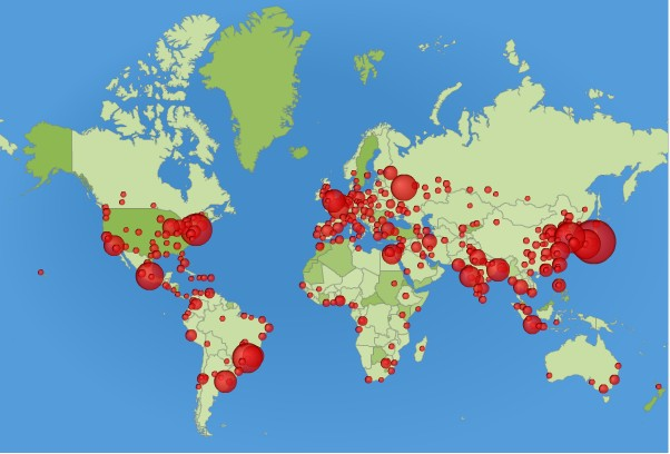 世界地图大城市的人口