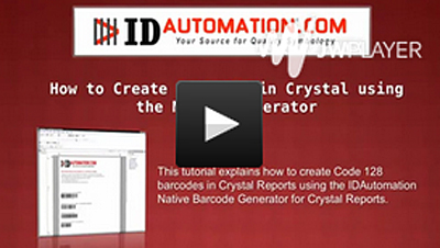 水晶报表(Crystal Reports)中创建Code 128条形码