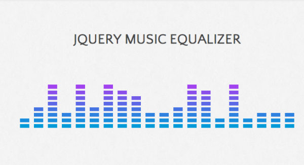 jQuery Music Equalizer