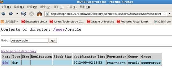 图 6.hadoop 文件系统 web 监控页面