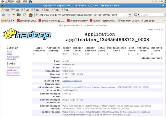 图 10.hadoop MapReduce Application Web 监控页面 (1)