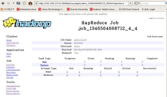图 11.hadoop MasterApplication Web 监控页面(2)
