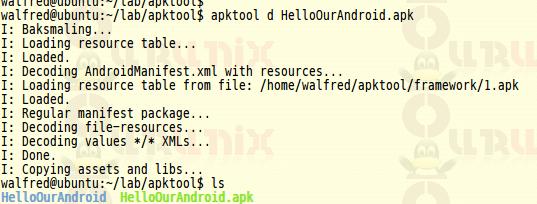 使用android-apktool来逆向使用APK