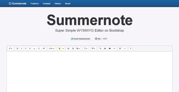 Summernote首页、文档和下载- HTML 在线编辑器- OSCHINA