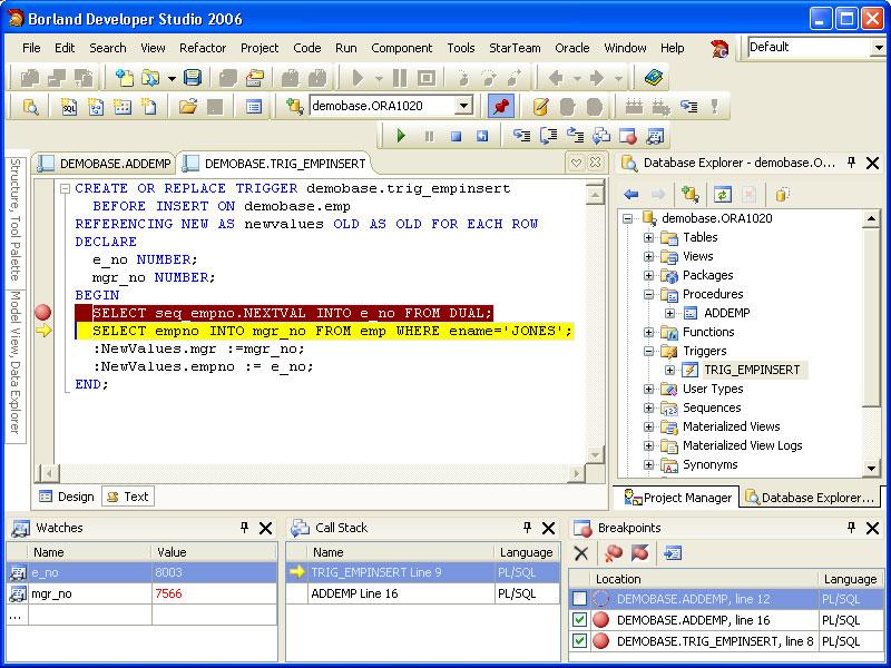 PL/SQL Debugger