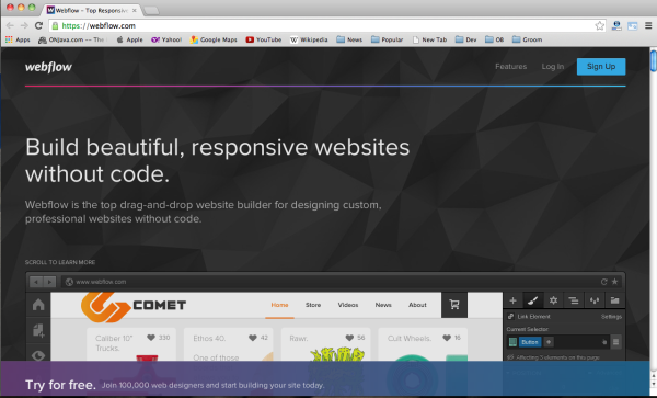 Best bootstrap tools for web designers-webflow