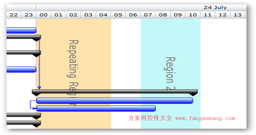 Silverlight Gantt甘特图