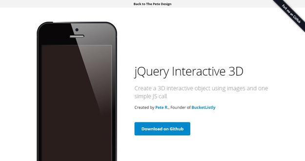 jQuery Interactive 3D