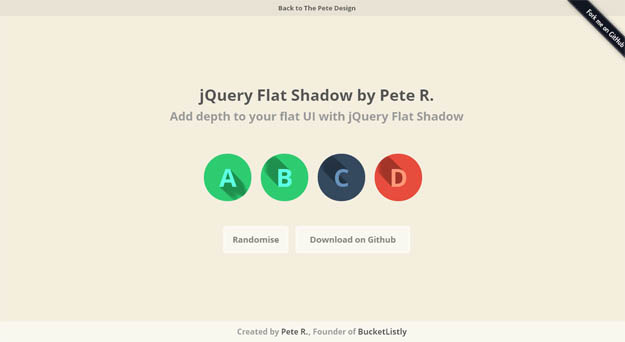 jquery-flat-shadow