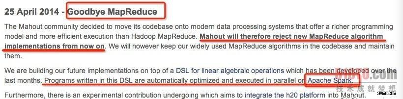 快扔掉MapReduce,拥抱Spark吧!