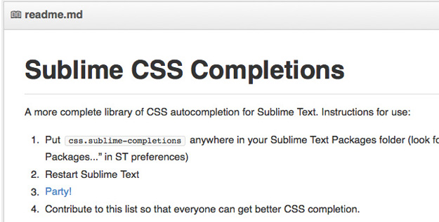 sublimecss completions