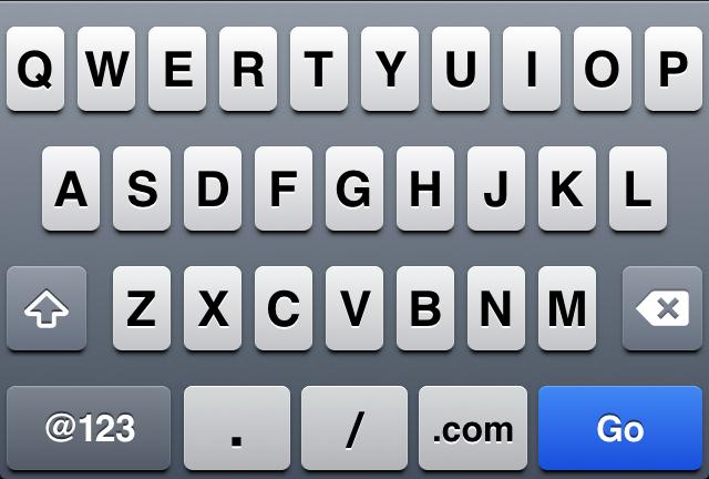 iOS Keyboard for URL Inputs