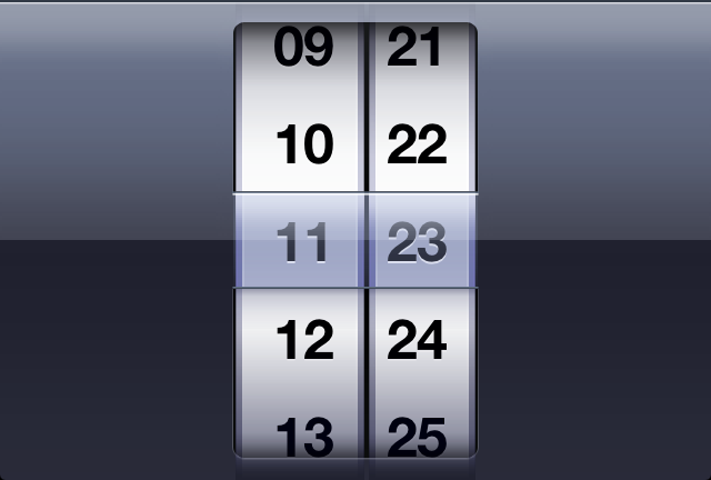 iOS Time Picker