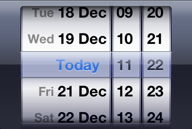iOS DateTime Picker