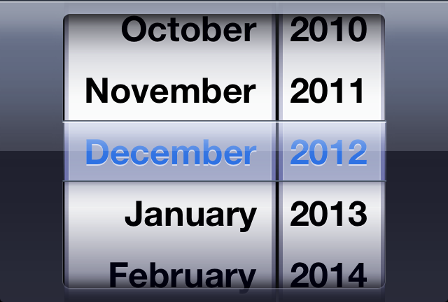 iOS Month Picker