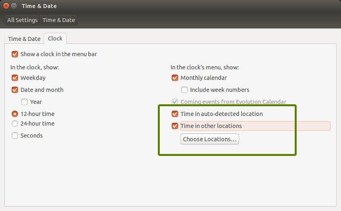 Add multiple timezones in Ubuntu