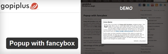 Popup with fancybox - must use wordpress plugin