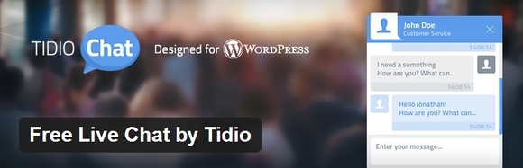 Free Live Chat by Tidio - top wordpress plugin