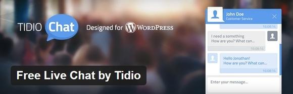 Free Live Chat by Tidio - top wordpress plugin