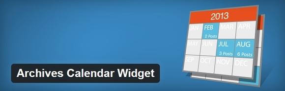 Archives Calendar Widget - web development