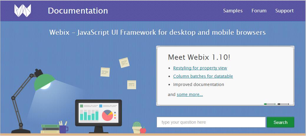 updated webix documentation